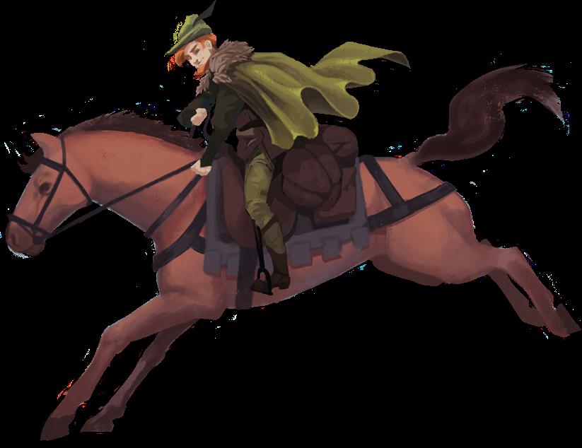 Robin von Locksley (Wyrmgold): Reitender Robin