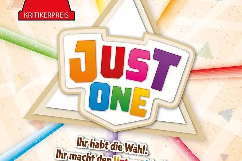 Das Cover von Just One, dass den Kritikerpreis Spiel des Jahres gewonnen hat.