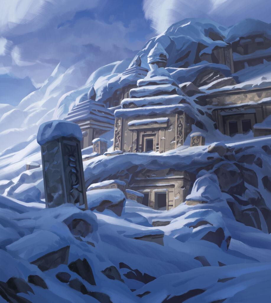 It's a Wonderful World – Grafik: Verschneiter Tempel