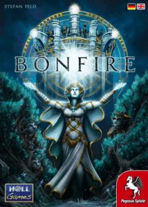 Bonfire, Cover der Spieleschachtel.